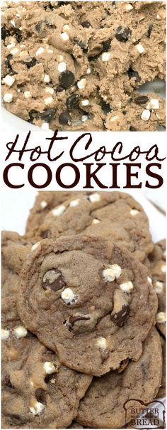 Hot Cocoa Cookies are the perfect winter treat combination with hot cocoa, chocolate, and marshmallow bits all baked into one delicious cookie!