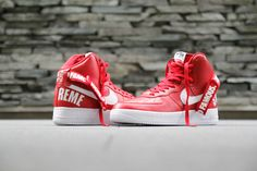 "A Closer Look at the Supreme x Nike 2014 Fall/Winter Air Force 1 ""Red"""