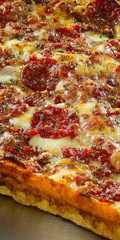 Detroit Michigan - Buddy's Pizza square deep dish, Detroit style