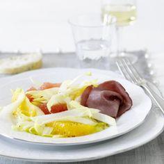 Chicoréesalat mit Rauchfleisch