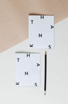 free printable diy minimal thank you card | gift idea | typography design