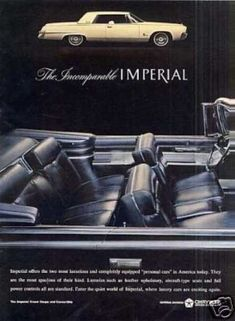1964 Imperial Crown Coupe and Convertible Chrysler Voyager, Vintage Advertisements, Vintage Ads, Chrysler Cars, Chrysler Lebaron, Convertible, Car Brochure, Chrysler Imperial, American Motors