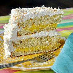 Lemon Marshmallow Coconut Cake