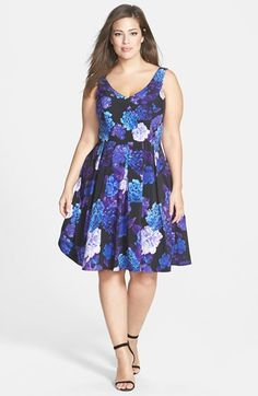 City+Chic+Hydrangea+Print+Dress+(Plus+Size)+available+at+#Nordstrom