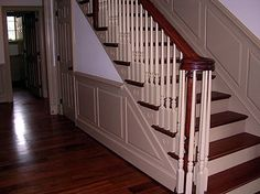 Wall Panelling Wood, Wall Panels, Painted, Stair Panels | Wall Dressing |  Pinterest | Paint Stairs, Paneling Painted And Wood Walls