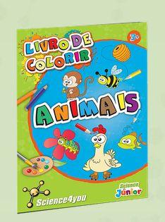 LIVRO DE COLORIR ANIMAIS  Descobre:  - Com este livro de colorir e as suas atividades educativas, poderás aprender a colorir diferentes animais, de forma divertida e pedagógica.
