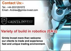 #‎Variety‬ of ‪#‎build‬ in ‪#‎robotics‬ (EA's) http://www.grinta-invest.com/ ‪#‎Email‬:- Andrew@grinta-invest.com