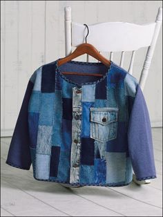 Quilting - Clothing & Accessories Patterns - Casual Wear Patterns - Denim Patchwork Cardigan