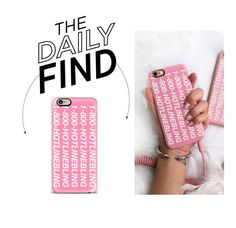 """""""Daily Find: 1-800-Hotline Bling iPhone Case"""" by polyvore-editorial ❤ liked on Polyvore featuring DailyFind"""
