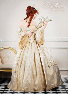 Ultimate Marie Antoinette Gown    We are excited to offer a new Marie Antoinette style gown! We have been asked to do lace back styles before,