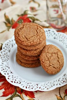Paleo Ginger Cookies - Crispy edges, soft middles... these are gingery perfection!