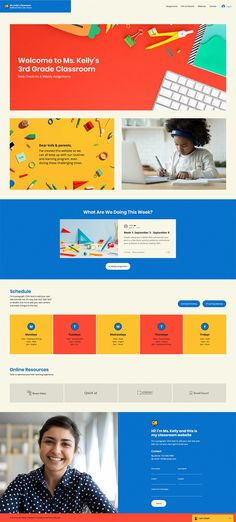 Remote Learning Classroom Website Template | Wix Website Template