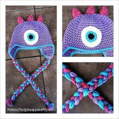 Custom toddler/child crochet monster hat on etsy $23.00