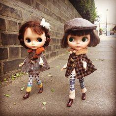 """""""We're a couple of dandies!"""" #kennerblythe  #missblythe2012  #dandies #vintagedoll  #steppingout #street  #kawaii  #ootd"""