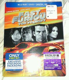 New Fast & Furious 3 Tokyo Drift Steelbook Blu-ray/DVD/DC Bestbuy Exclusive