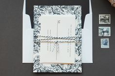 elegant country chic floral wedding invitations