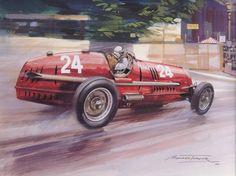 GP MONACO 1936 , Alfa Romeo 8C-35  #24 of Tazio Nuvolari.
