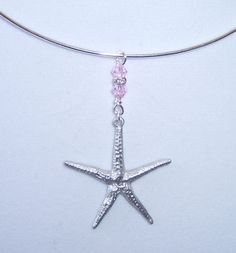 Pewter Starfish Necklace Silver Starfish by EarthlieTreasures, $26.00