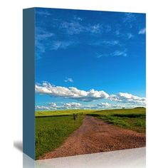 East Urban Home 'Trail Fields Summer Sky Landscape' Photographic Print on Canvas Size: