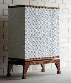 Regina Cabinet henningmade combines craft and technology in regina lasercut cabinet | www.designboom.com #interiordesign #cabinets #decor