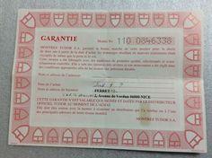 TUDOR Certificate Guarantee paper 79380 year 2008 free shipping  #TUDOR