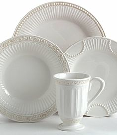 Everyday dishes - mix of patterns from Lenox Butlers Pantry Spode Woodland, Company Dinner, Everyday Dishes, White Dinnerware, Butler Pantry, China Patterns, Fine China, Decoration, Plates