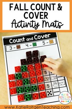 I love using these fall count and cover activity mats for my kindergarten small groups, math centers, morning tubs, and more! These snap cubes math activity mats are an interactive way to practice number representations for numbers 1-10. What a great way to practice foundational math skills and build strong fine motor skills while having some engaging fall fun!
