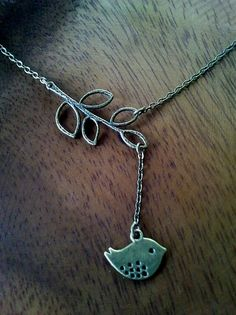 Antiqued Vintage Bronze Leaf with Bird Charms / by LaLaCrystal, $22.50