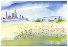 paesaggio  acuarela flores acquarello acquerello watercolor