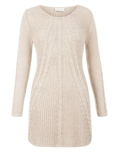 Cassie cable tunic dress | Nude | Monsoon