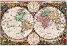 The 20 best antique maps vintage maps art prints images on antique world map old vintage map 1730 fade resistant hd print or canvas gumiabroncs Images
