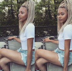 Pinterest: @MellyStone Blonde box braids