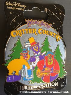 www.CBJCollector.com - 2015 D23 Walt Disney Imagineering Disneyland 60 Critter Country Pin featuring the Country Bear Jamboree.  Limited Edition to 300.