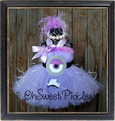 Deluxe - EVIL MINION - DESPICABLE Me Inspired - Halloween Costume Tutu Dress & Headband - Sizes 0, 3, 6, 9, 12, 18, 24 Mos, 2t, 3t, 4t, 5t on Etsy, $99.95