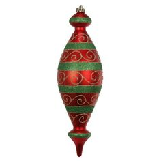 A&B Home Finial Christmas Ornaments - Set of 4.