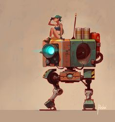 #Marchofrobots2015 by Aleksandr Pushai on Behance