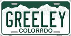 x automotive metal license plate. Made of the highest quality aluminum for a. Novelty License Plates, Novelty Mugs, Greeley Colorado, Beautiful Places To Live, Fort Collins, Vinyl Records, Metal
