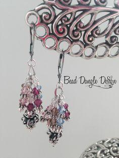 Swarovski Crystal Beaded Dangle Earrings