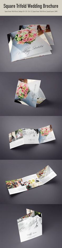 Square Trifold Wedding Brochure on Behance  This item is available for sale on Envato MarketPlace http://graphicriver.net/item/elegant-restaurant-menu/9442752