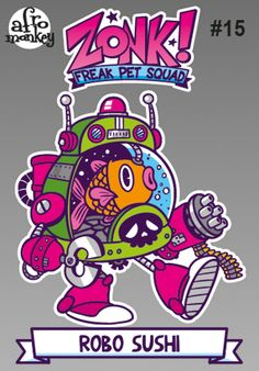 ZONK! FPS Stickers by Paco Afromonkey Puente, via Behance