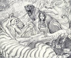 """The Jungle Book"" by Iain McCaig #drawing #sketches #art"