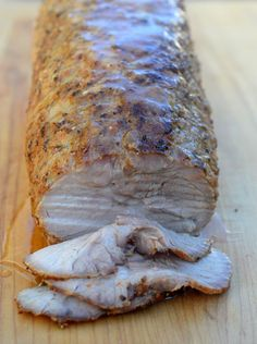 The pork is rested from the previous day's roasting and ready for slicing to make a Philly Roast Pork Sandwich Slider Sandwiches, Gourmet Sandwiches, Pork Sliders, Healthy Sandwiches, Pork Au Jus Recipe, Pork Roast Recipes, Roast Pork Sandwich, Boneless Pork Roast, Sandwich Packaging
