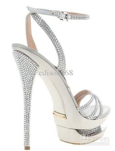Sexy shoes - Read the article to find sexy shoes for 2014 Silver Evening Shoes, Silver Bridal Shoes, Silver Shoes, Silver High Heel Sandals, Diamond Shoes, Extreme High Heels, Wedding Shoes Heels, Sandals Wedding, Gorgeous Heels