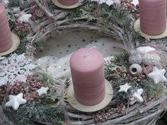 Adventskranz Rosa Weihnachtstraum von LeRoe auf DaWanda.com