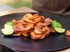 BBQ Shrimp Recipe | Michael Symon | Food Network Shrimp Dishes, Shrimp Recipes, Fish Recipes, New Recipes, Favorite Recipes, Party Recipes, Grilling Recipes, Cooking Recipes