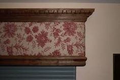 fabric covered wooden valance - Google Search