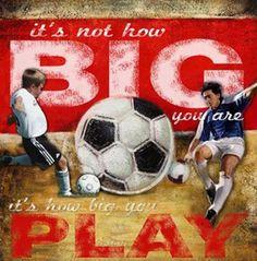 Big Play Soccer Wall Art