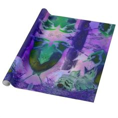 Rose Birds, Abstract Gift Wrap Paper #DianeClancy