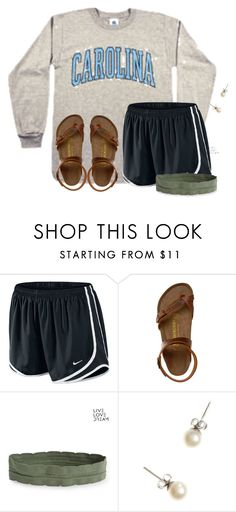 """""""When you have a cold in the winter..."""" by flroasburn on Polyvore featuring NIKE, Birkenstock, Aéropostale and J.Crew"""