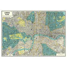 Mapa de Londres vintage de finales del siglo XIX. ¡El más londinense de los Londres! Y tiene otra cosa muy guay: cuesta 1,80 € :)